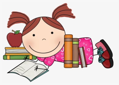 Child Reading Clipart Black And White Student Reading - Girl Writing  Clipart Black And White - Free Transparent PNG Clipart Images Download