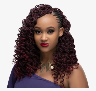 Mambo Curl Braided Crochet Hairstyle Short Fluffy Kinky Hairstyles Hd Png Download Kindpng