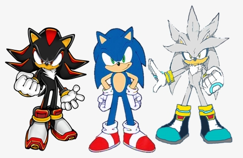 Sonic Shadow And Silver The Three Hedgehogs Shadow The Hedgehog Hd Png Download Kindpng