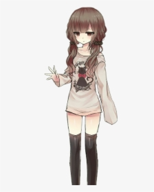 Female Brown Hair Anime Transparent Cartoons Cute Brown Hair