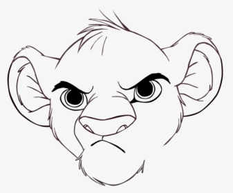 Nice Inspiration Ideas Simba Outline Drawing Rafiki Drawing Ideas Lion King Hd Png Download Kindpng African lion coloring page from lions category. nice inspiration ideas simba outline