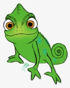 lizard clipart rapunzel - rapunzel pascal clipart, hd png