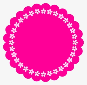 Clip Art Frame Rosa Pink Png Tags Redondos Transparent
