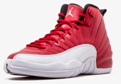 Humilde Conflicto nacimiento  Air Jordan 12 Retro Bg - Jordan 12 Rojo Con Blanco, HD Png Download -  kindpng