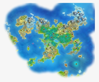 Official Map Of The Pokemon World, HD Png Download - kindpng