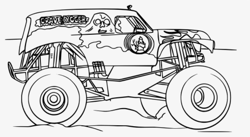 Grave Digger Monster Truck Vectors , Png Download ...
