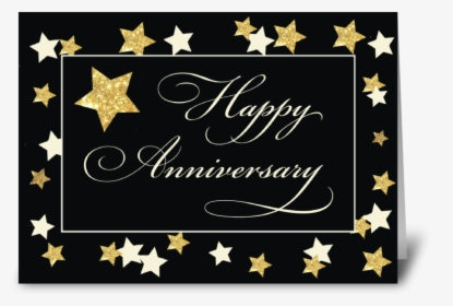 Employee Anniversary Navy Gold Effect Greeting Card Employee Work Anniversary Gift Hd Png Download Kindpng